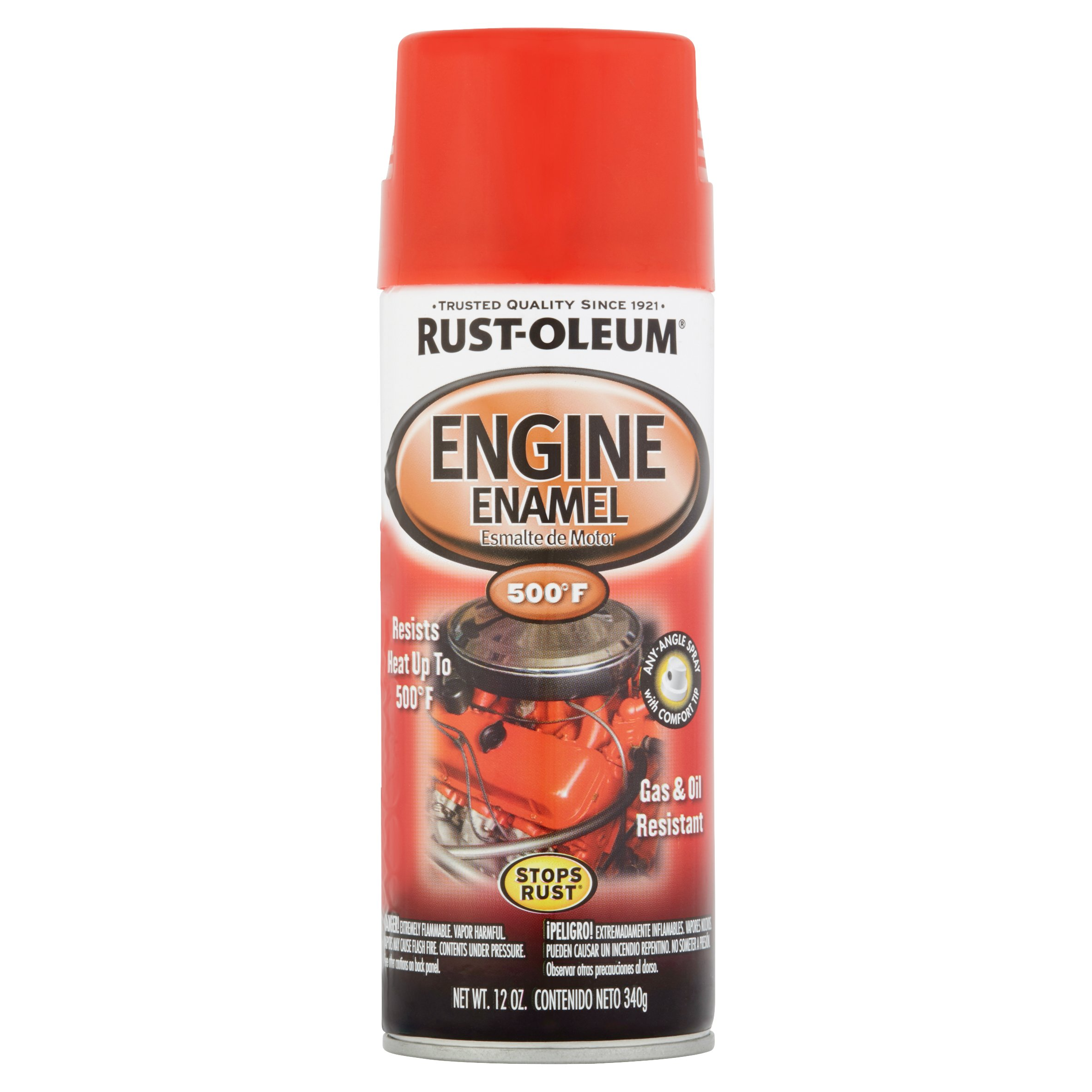 Rust-Oleum Gas & Oil Resistant Engine Enamel, 12 oz