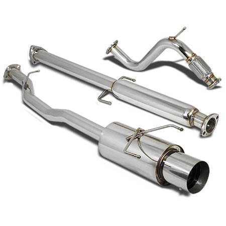 "For 94-97 Honda Accord Stainless Steel Catback Exhaust System 4.5"" Muffler (Chrome Muffler Tip) CD 95 96"