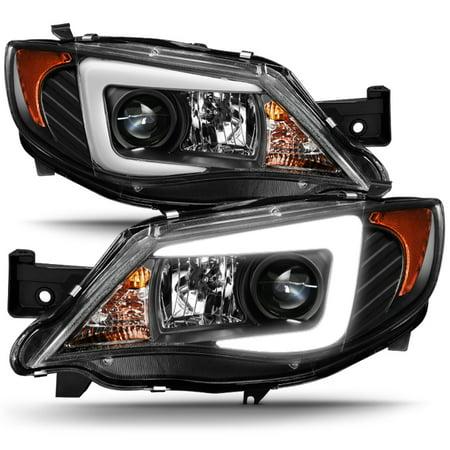 - Fits [Halogen Type] 08-14 Subaru Impreza WRX LED Light Tube Projector Headlights