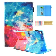 Kindle Fire HD 10 Case, Dteck Card Holder Lightweight Colorful Synthetic Leather Flip Stand Cover Auto Wake / Sleep