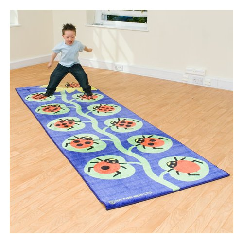 Kalokids Back to Nature Counting Ladybug Kids Blue Area Rug