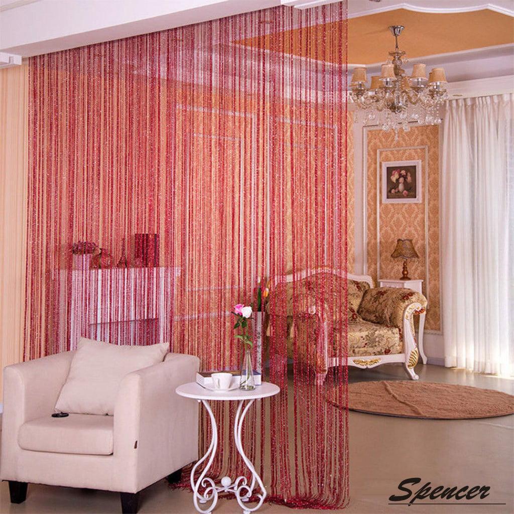Spencer 1x2m Door String Curtain Drops Beads Wall Panel Fringe Window Room Divider Strip Tassel For Wedding Home Decoration White Walmart Com Walmart Com