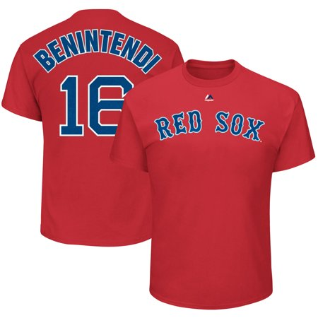 Andrew Benintendi Boston Red Sox Majestic Official Name & Number T-Shirt - Red