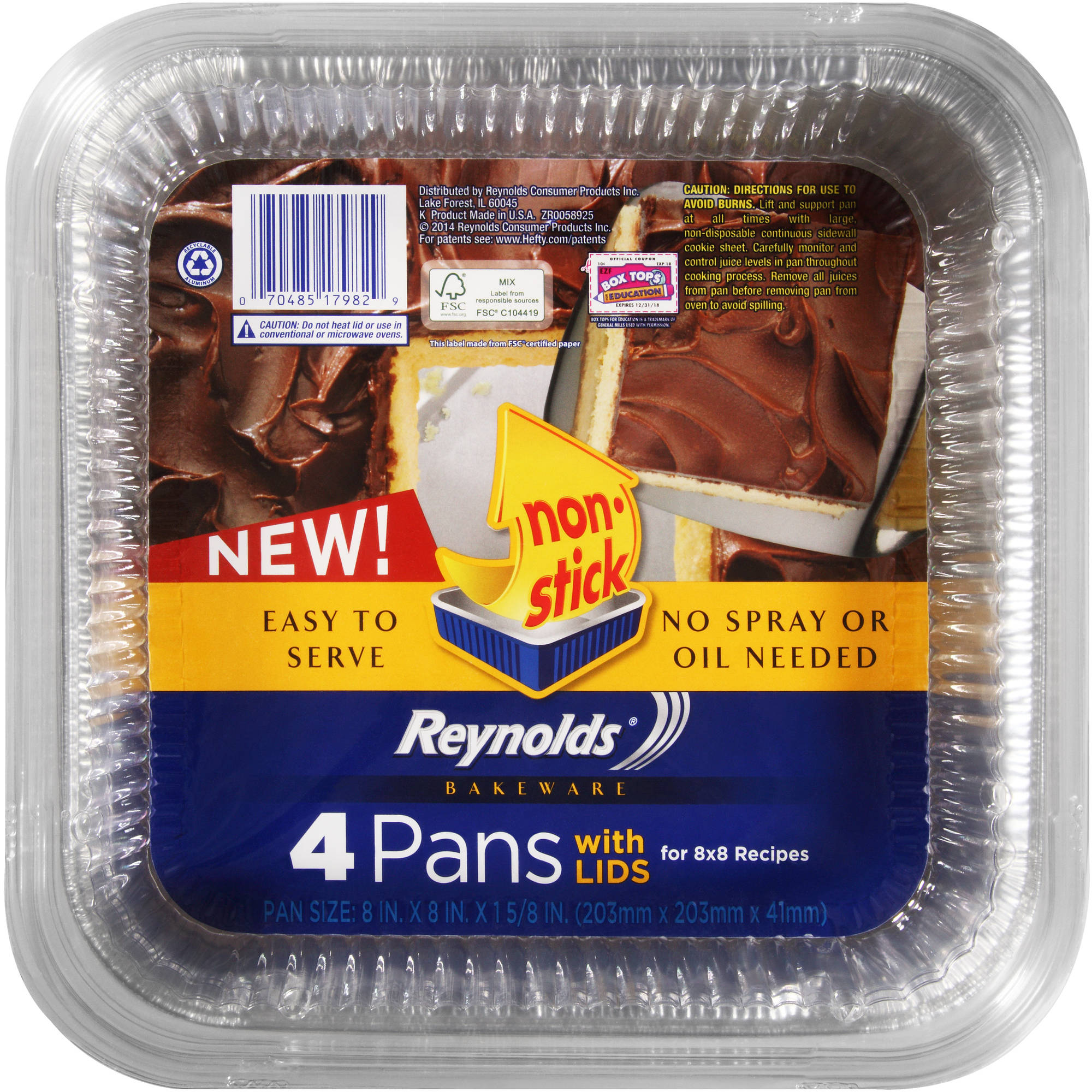 Reynolds Bakeware Pans with Lids, 4 count