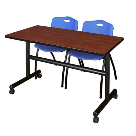 Miraculous Kobe 72 Cherry Flip Top Mobile Training Table And 2 M Stack Chairs Multiple Colors Interior Design Ideas Clesiryabchikinfo