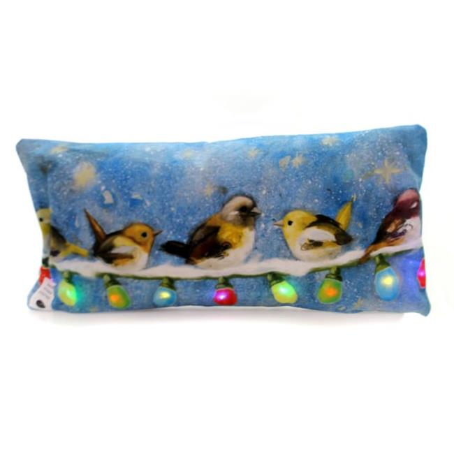 Manual Woodworkers & Weavers IPLIWW 17 x 9 x 0.5 in. We Wish You Holiday LED Pillow - image 1 of 1