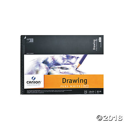 Canson Pure White Drawing Pad 18x24(pack of 1)
