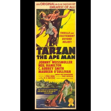 Tarzan The Ape Man Movie Poster Print  27 X 40