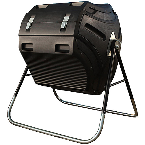 Lifetime 80-Gallon Compost Tumbler, Black