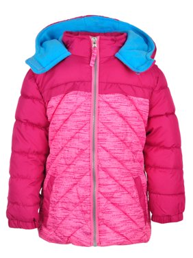 d04101ad5a2 Product Image Pink Platinum Colorblock Hooded Active Puffer Jacket (Little  Girls & Big Girls)