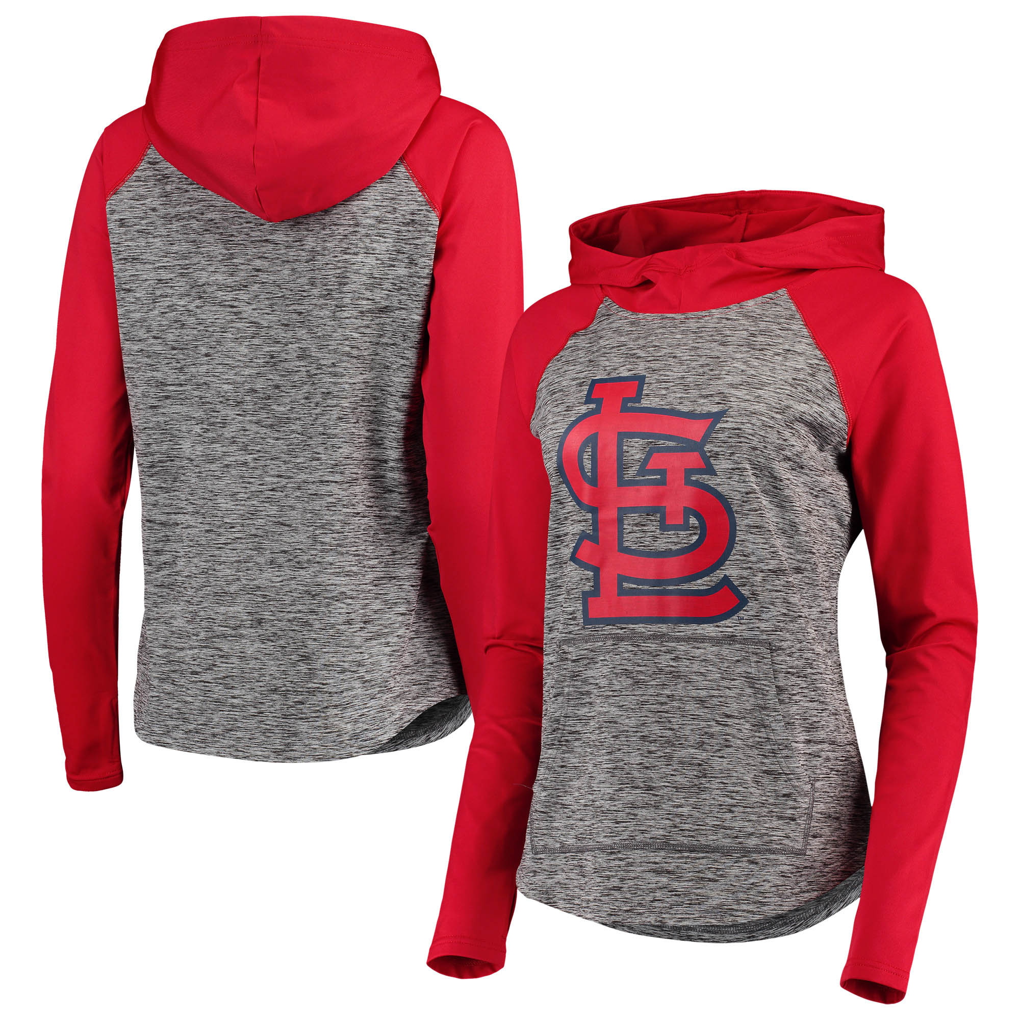 St. Louis Cardinals G-III 4Her by Carl Banks Women's Championship Ring Pullover Hoodie - Gray/Red
