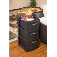 MQ Infinity 3-Drawer PP Resin Mobile All-purpose Storage Cart Espresso