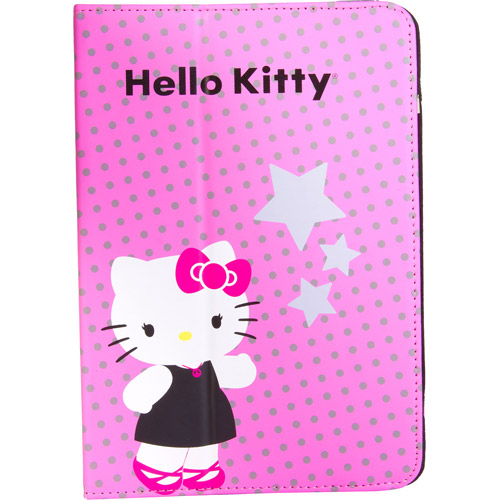 "7"" Portfolio Case for Tablet PCs, Hello Kitty"