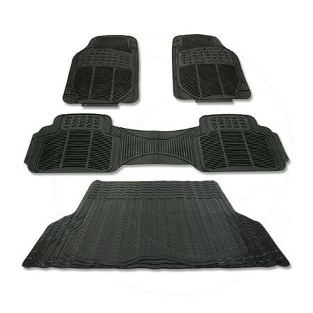 Fit ACURA RL RUBBER BLACK CAR FLOOR TRUNK MAT WATERSPILL - 2006 acura rl floor mats