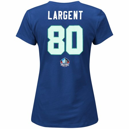 Steve Largent Nfl - Steve Largent Seattle Seahawks NFL Majestic Women's Blue