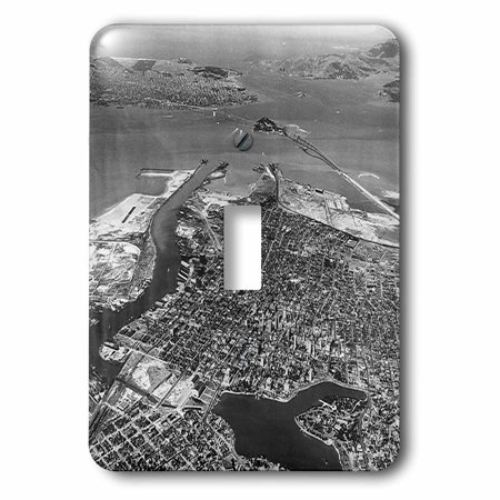 3dRose Print of Aerial View Of 1930 San Francisco, 2 Plug Outlet (Outlet Store In San Francisco)