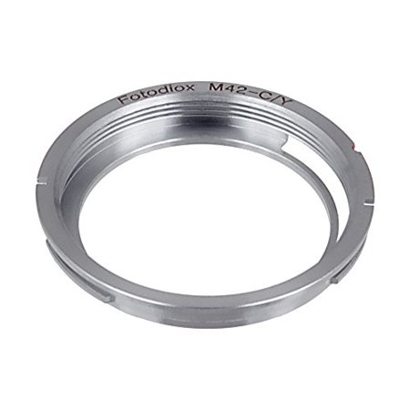 Fotodiox Lens Mount Adapter - M42 Screw Mount SLR Lens to Contax Yashica (C/Y) 35mm SLR Camera (Contax To Nikon)