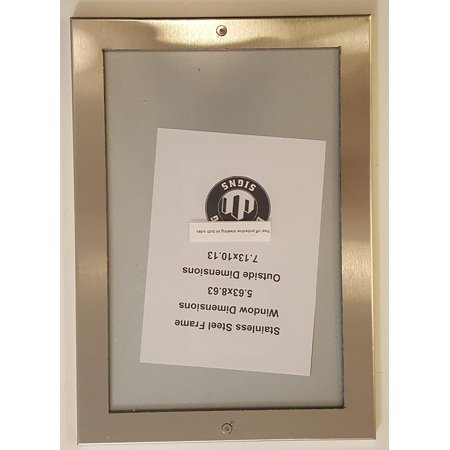 - Elevator Permit frame 5.63 x 8.63 stainless Steel