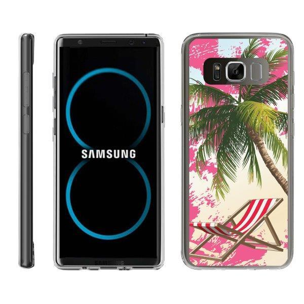 TurtleArmor ® | For Samsung Galaxy Note 8 N950 [Flexible Case] Slim Fitted TPU Case - Reading on Beach