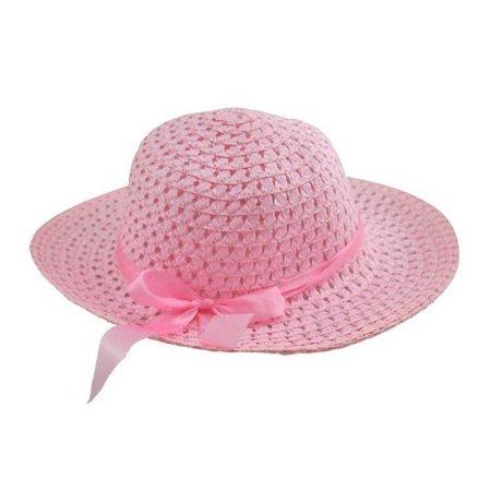 44a64e33fc1 Girls Pink Sun Hat - image 1 of 1 ...