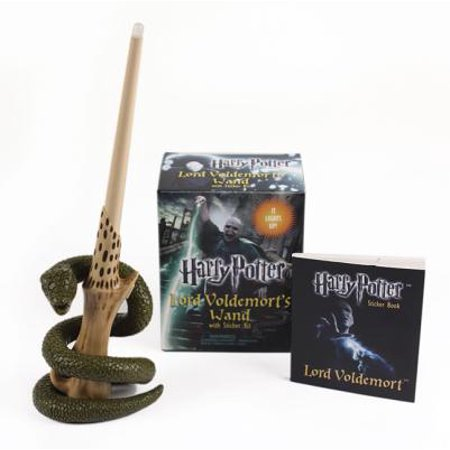 Harry Potter Voldemort's Wand with Sticker Kit : Lights Up! - Harry Potter Dressing Up Clothes