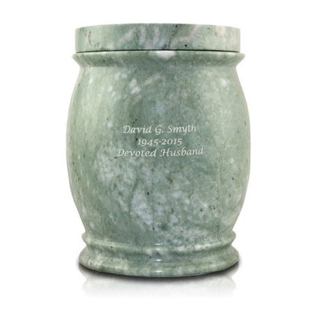 marble cremation urn large 200 pounds jade green genuine jade