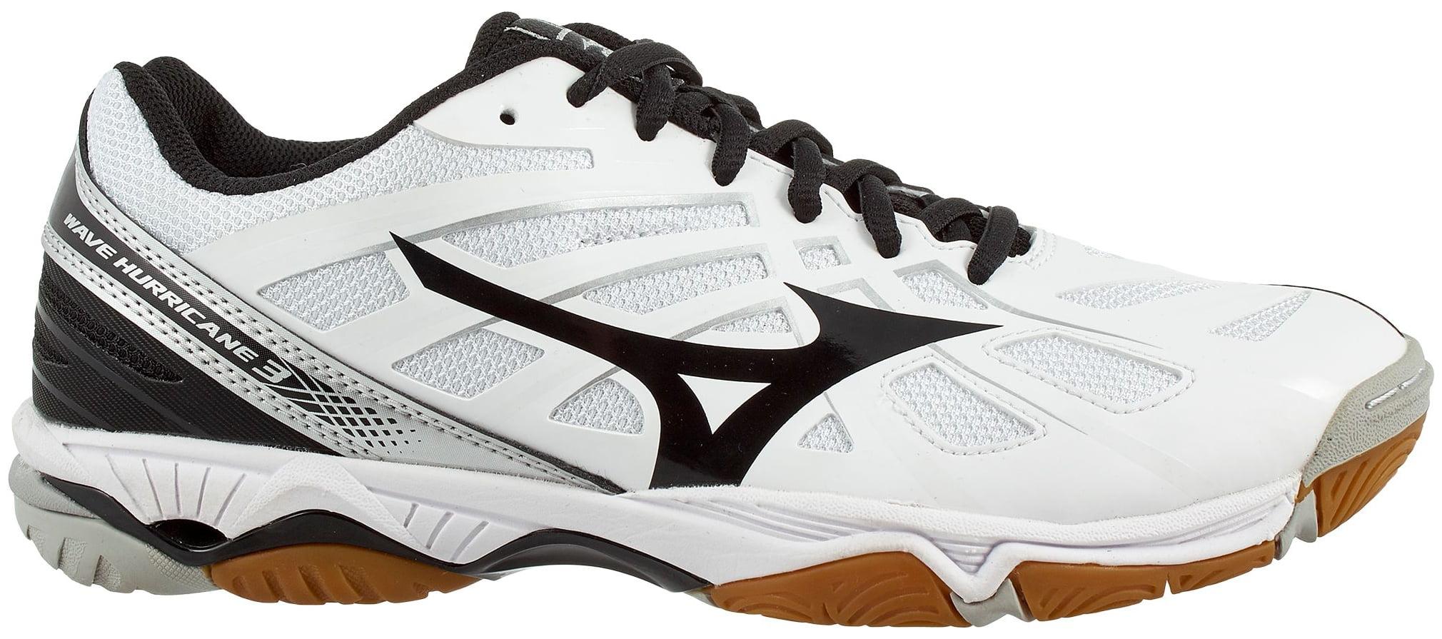 Mizuno Women's Wave Hurricane 3 Volleyball Shoes (White/Black, 6.0)
