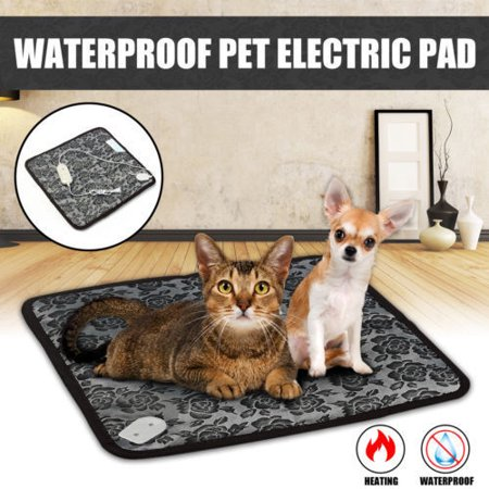 Waterproof Heated Mat Dog & Cat Pet Bed, Small, 18