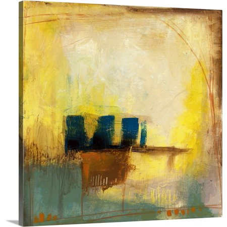 Great BIG Canvas | Jennifer Goldberger Premium Thick-Wrap Canvas entitled Aquamarine Aura II ()