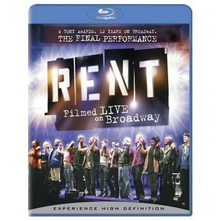 Rent  Filmed Live On Broadway  Blu Ray