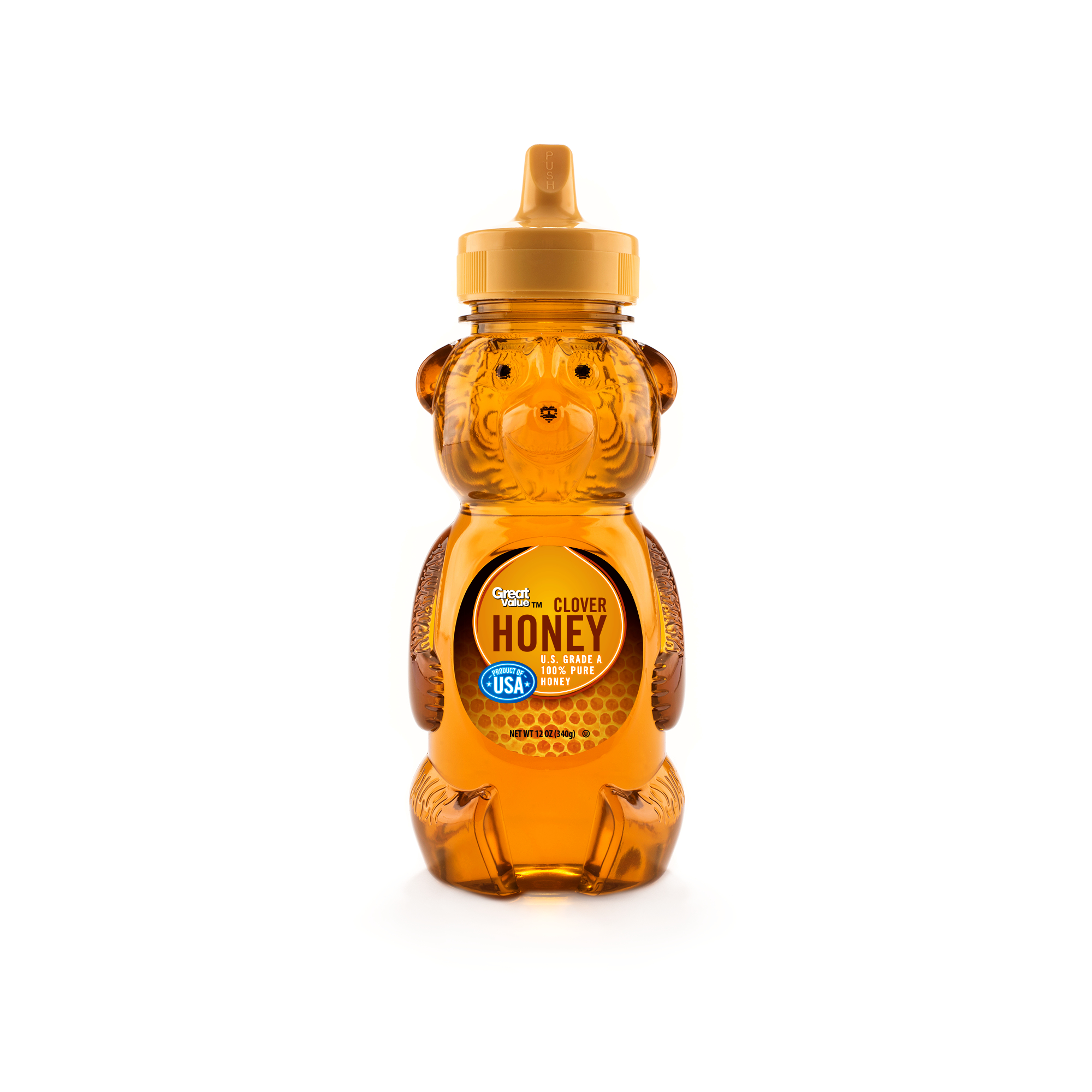Great Value, U.S.A Honey, 12 oz Bear by Wal-Mart Stores, Inc.