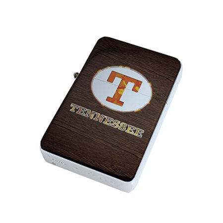 - KuzmarK Silver Windproof Flip Top Lighter -  Tennessee Wood