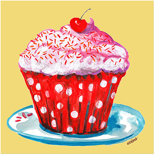 "Trademark Fine Art ""Cupcake"" Canvas Art by Wendra"