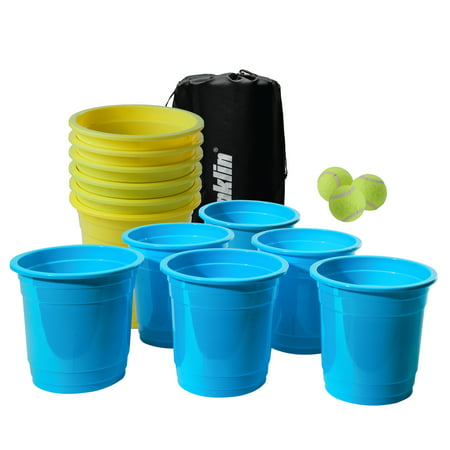 Franklin Sports Bucketz Pong Game – Perfect Tailgate Game and Beach Game
