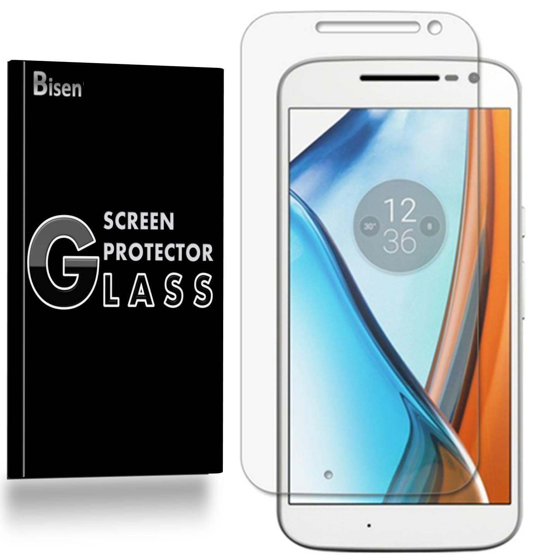 Motorola Moto G4 / Motorola Moto G (4th Gen) [3-Pack BISEN] 9H Tempered Glass Screen Protector, Anti-Scratch, Anti-Shock, Shatterproof, Bubble Free