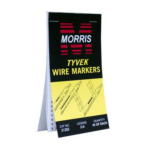 Morris Products Tyvek Wire Marker Booklets with A-Z,0-15,+,-,/ Standard Marking