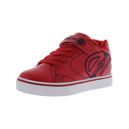 Heelys Vopel X2 Red / Black Ankle-High Nylon Fashion Sneaker - 2M Black Red Boys Sneakers