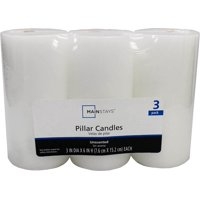 Mainstays Unscented Pillar Candle