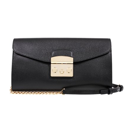 Furla Metropolis Ladies Small Black Onyx Leather Pochette 962799