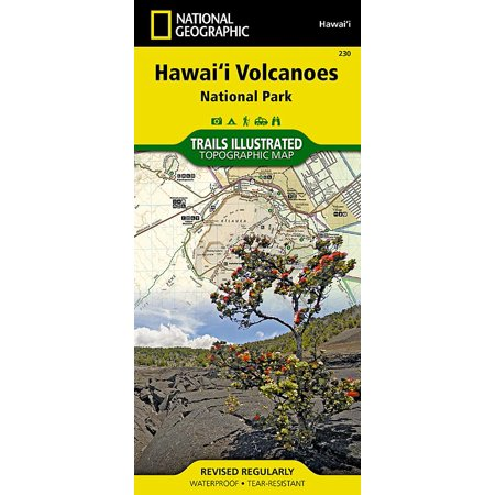 National geographic maps: trails illustrated: hawaii volcanoes national park - folded map: