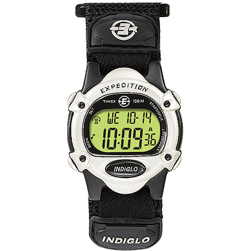 Timex Unisex Expedition Digital CAT Watch, Black Fast Wrap Velcro Strap