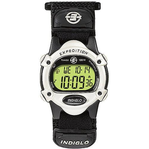 Timex Unisex Expedition Digital CAT Watch, Black Fast Wrap Velcro Strap