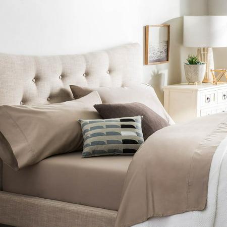 Brookside Cotton Blend Sheet Set- Rich Cotton Feel- Polyester Finish