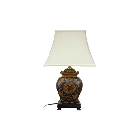 19 in. High Oriental Porcelain Table Lamp ()
