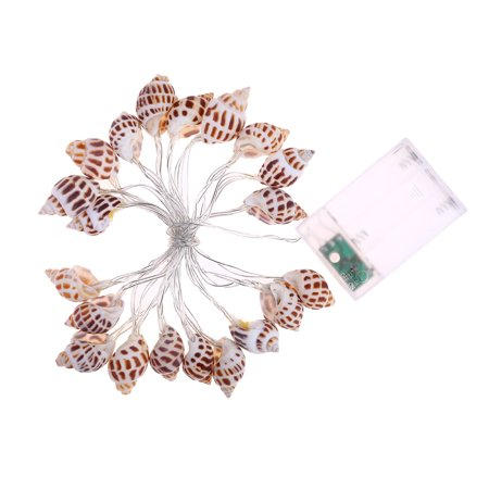 Homeholiday 10/20 LED Conch String Lights Beach Themed Party Battery-powered Bedroom Light Decoration - image 1 of 8