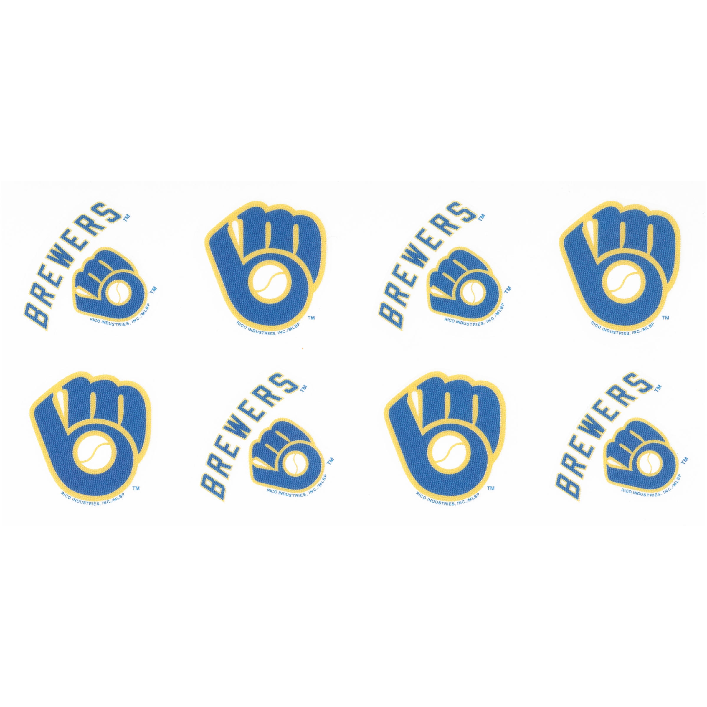 Milwaukee Brewers™ Peel & Stick Tattoos 8 pc Pack