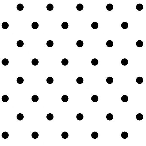 VIP Fabrics Dots Fabric, Black on White
