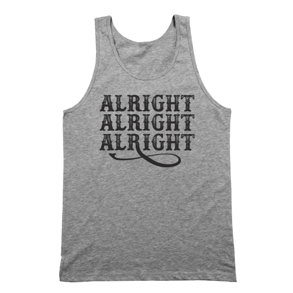 Alright Alright Alright X-Large Gray Basic Tank Top