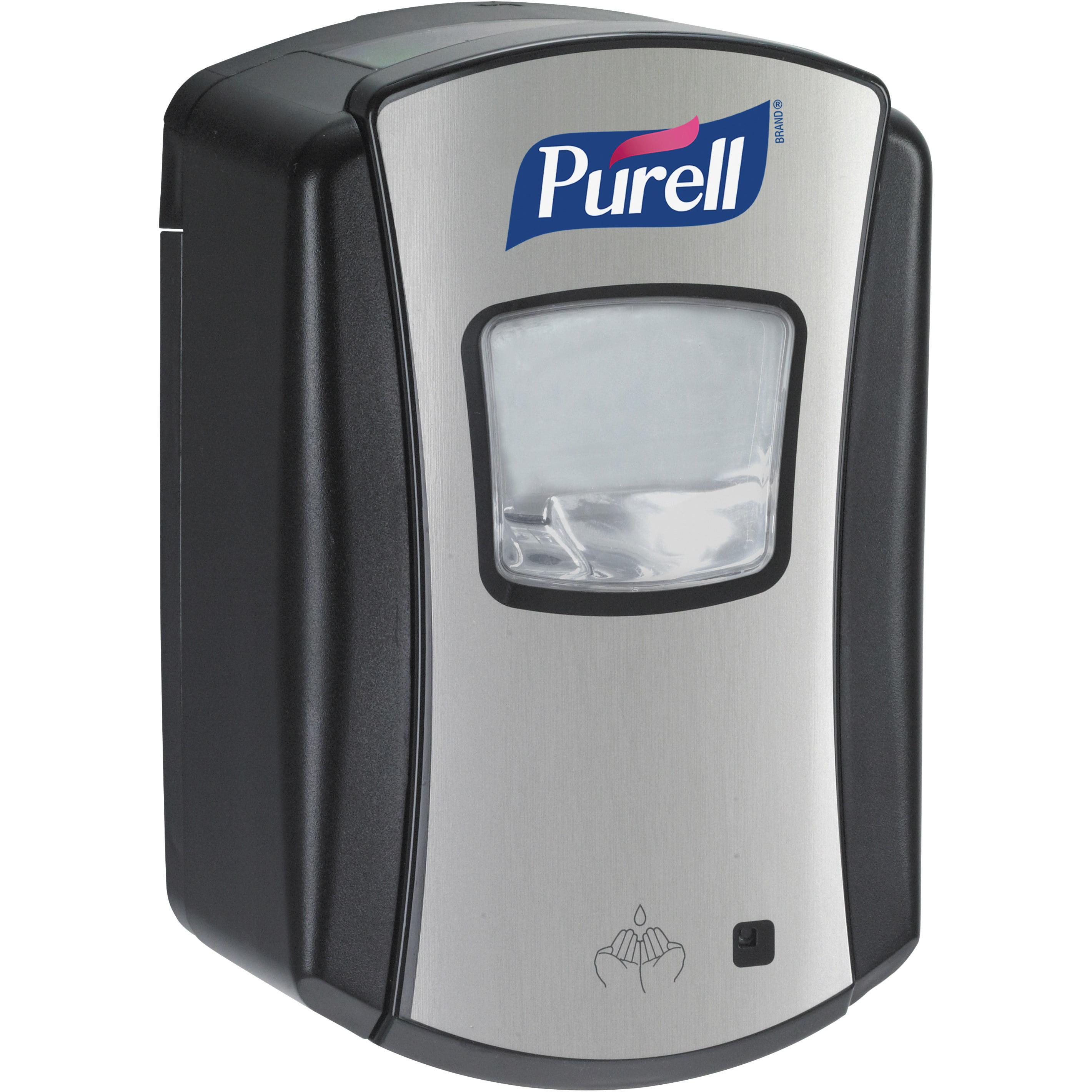 PURELL®, GOJ132804, LTX-7 Hands-free Sanitizer Dispenser, 1 Each, Black,Chrome