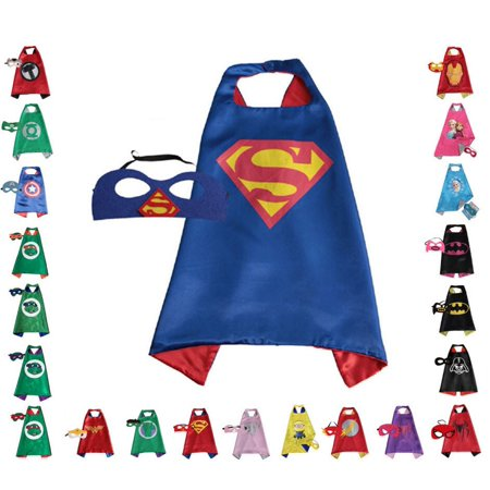 Superman Children Super Hero Cape and Mask for Boys, Costume (Blue) for $<!---->